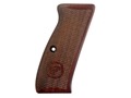 Thumbnail Image: Product detail of CZ Grips CZ 75, 85 Checkered Cocobolo with CZ Logo