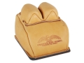 Product detail of Protektor Custom Bunny Ear Rear Shooting Rest Bag with Heavy Bottom Leather Tan Filled