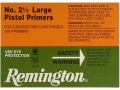 Product detail of Remington Large Pistol Primers #2-1/2