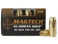 Product detail of Magtech Guardian Gold Ammunition 40 S&W 180 Grain Jacketed Hollow Point