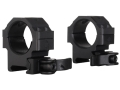 Product detail of Leapers UTG 30mm Max Strength Tactical 4-Hole Quick Detachable Picatinny-Style Rings Matte