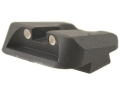 Product detail of Novak Carry Rear Sight Glock Steel Black with White Dots