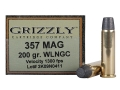 Product detail of Grizzly Ammunition 357 Magnum 200 Grain Lead Wide Flat Nose Gas Check Box of 20