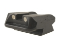 Product detail of Novak Carry Rear Sight 1911 Standard Rear Cut Steel Black with White Dots
