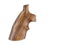 Product detail of Hogue Fancy Hardwood Grips with Top Finger Groove Taurus Small Frame