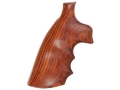 Product detail of Hogue Fancy Hardwood Conversion Grips with Finger Grooves S&W K, L-Frame Round to Square Butt Cocobolo