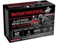 "Product detail of Winchester Long Beard XR Turkey Ammunition 12 Gauge 3"" 1-3/4 oz #6 Copper Plated Shot"