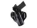 Product detail of DeSantis Thumb Break Scabbard Belt Holster Left Hand Ruger P89, P90, P93, P94, P95 Suede Lined Leather Black