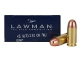 Product detail of Speer Lawman Ammunition 45 ACP 230 Grain Full Metal Jacket