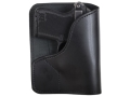 Product detail of DeSantis Trickster Rear Pocket Holster Ambidextrous Ruger LCP, Kel-Tec P-32, P3AT Leather Black