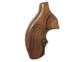 Product detail of Hogue Fancy Hardwood Grips with Top Finger Groove Taurus Small Frame Checkered Pau Ferro