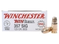 Product detail of Winchester USA WinClean Ammunition 357 Sig 125 Grain Brass Enclosed Base