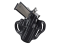 Product detail of DeSantis Speed Scabbard Belt Holster Right Hand Sig Sauer P250 Sub Compact Leather Black