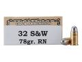 Thumbnail Image: Product detail of Ten-X Cowboy Ammunition 32 S&W 78 Grain Lead Roun...