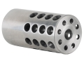 "Product detail of Vais Muzzle Brake 1"" 243 Caliber, 6mm 11/16""-24 Thread 1"" Outside Diameter x 2"" Length Stainless Steel"