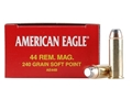 Product detail of Federal American Eagle Ammunition 44 Remington Magnum 240 Grain Jacketed Soft Point Box of 50