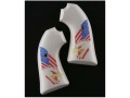 Product detail of Hogue Grips Ruger Bisley Ivory Polymer Eagle with Flag Pattern
