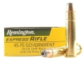 Product detail of Remington Express Ammunition 45-70 Government 300 Grain Semi-Jacketed Hollow Point Box of 20