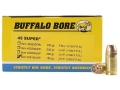 Product detail of Buffalo Bore Ammunition 45 Super 185 Grain Jacketed Hollow Point Box of 50