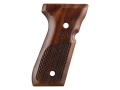 Product detail of Beretta Factory Grips Beretta 92, 96 Oval Texturing Walnut