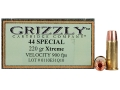 Product detail of Grizzly Self-Defense Ammunition 44 Special 220 Grain Xtreme Copper Hollow Point Lead-Free Box of 20