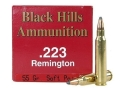 Thumbnail Image: Product detail of Black Hills Ammunition 223 Remington 55 Grain Sof...