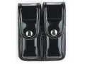 Product detail of Bianchi 7902 AccuMold Elite Double Magazine Pouch Double Stack 45 ACP Chrome Snap Trilaminate High-Gloss Black