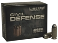 Product detail of Liberty Civil Defense Ammunition 40 S&W 60 Grain Fragmenting Hollow Point Lead-Free Box of 20