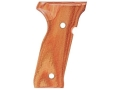 Product detail of Hogue Fancy Hardwood Grips Beretta Cougar 8000 Checkered Tulipwood