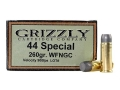Product detail of Grizzly Ammunition 44 Special 260 Grain Cast Performance Lead Wide Flat Nose Gas Check Box of 20