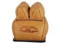 Product detail of Protektor Custom Rabbit Ear Rear Shooting Rest Bag with Heavy Bottom Leather Tan Filled