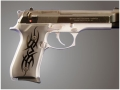 Product detail of Hogue Extreme Series Grip Beretta 92F, 92FS, 92SB, 96, M9 Tribal Aluminum Black