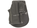 Product detail of Fobus Paddle Holster Left Hand Glock 17, 19, 22, 23, 31, 32, 34, 35 Polymer Black