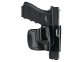 Product detail of Gould & Goodrich B891 Belt Holster Right Hand Glock 17, 19, 22, 23, 26, 27, 28, 31, 32, 33 Leather Black