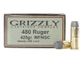 Product detail of Grizzly Ammunition 480 Ruger 425 Grain Cast Performance Lead Wide Flat Nose Gas Check Box of 20