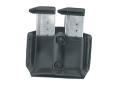 Product detail of Gould & Goodrich B831-3 Paddle Double Magazine Pouch Beretta 92, 96, Sig Sauer P220,  P225,P226, P228, P229, P239, Springfield  XD9, XD40, S&W M&P Leather Black