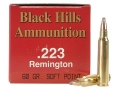 Product detail of Black Hills Ammunition 223 Remington 60 Grain Soft Point Box of 50