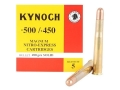 Product detail of Kynoch Ammunition 500-450 Nitro Express 480 Grain Woodleigh Welded Core Solid Box of 5