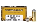 Product detail of Ultramax Cowboy Action Ammunition 45 S&W Schofield 180 Grain Lead Flat Nose Box of 50