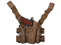 Product detail of BlackHawk Tactical Serpa Thigh Holster Right Hand 1911 Government Polymer Coyote Tan