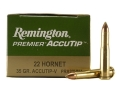 Product detail of Remington Premier Varmint Ammunition 22 Hornet 35 Grain AccuTip Boat ...