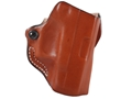 Product detail of DeSantis Mini Scabbard Outside the Waistband Holster Right Hand Glock 26, 27, 33 Leather Tan