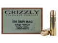 Product detail of Grizzly Ammunition 500 S&W Magnum 420 Grain PUNCH Flat Nose Lead-Free Box of 20