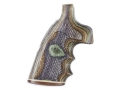 Product detail of Hogue Fancy Hardwood Grips with Top Finger Groove S&W N-Frame Round Butt Checkered