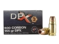 Product detail of Cor-Bon DPX Ammunition 400 Cor-Bon 155 Grain Barnes XPB Hollow Point Lead-Free Box of 20