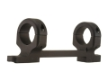"Product detail of DNZ Products Game Reaper 1-Piece Scope Base with 1"" Integral Rings Savage 110 Through 116 Round Rear, Right Hand Long Action Matte Low"