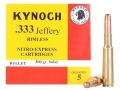 Product detail of Kynoch Ammunition 333 Jeffery Rimless 300 Grain Woodleigh Weldcore Solid Box of 5