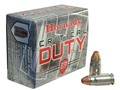 Product detail of Hornady Critical Duty Ammunition 357 Sig 135 Grain FlexLock Box of 20