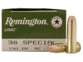Thumbnail Image: Product detail of Remington UMC Ammunition 38 Special 130 Grain Ful...