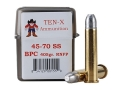Product detail of Ten-X Cowboy Ammunition 45-70 Government Single Shot 405 Grain Round Nose Flat Point BPC Box of 20